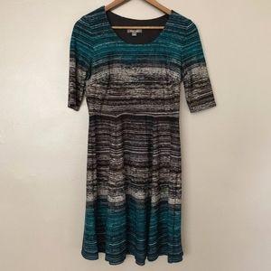 Roz & Ali Dressbarn Striped Sweater Dress 6